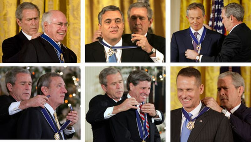 Bush medals for the perps